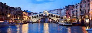 Rialto Bridge at night (Venice)