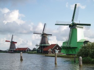 Windmills of amsterdam