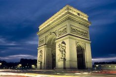 Early Nightfall - Arc de Triomphe - Paris - France