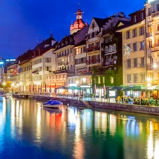 Night Scene of Lucerne/Luzern, Switzerland