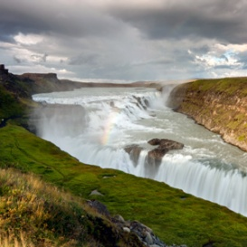Gullfoss Golden Falls in Iceland