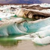 Glacier ice - Jokulsarlon lake Iceland